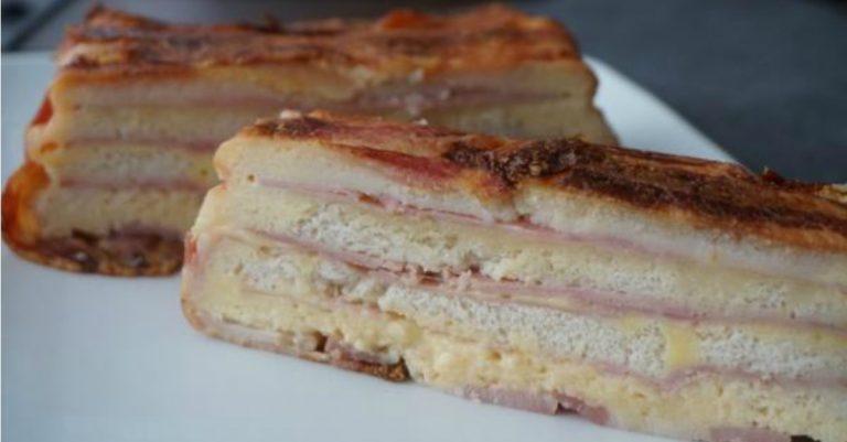 Receta De Pastel Salado Pan De Molde Con Queso Y Jamón Al Horno Delicias Tv Blog
