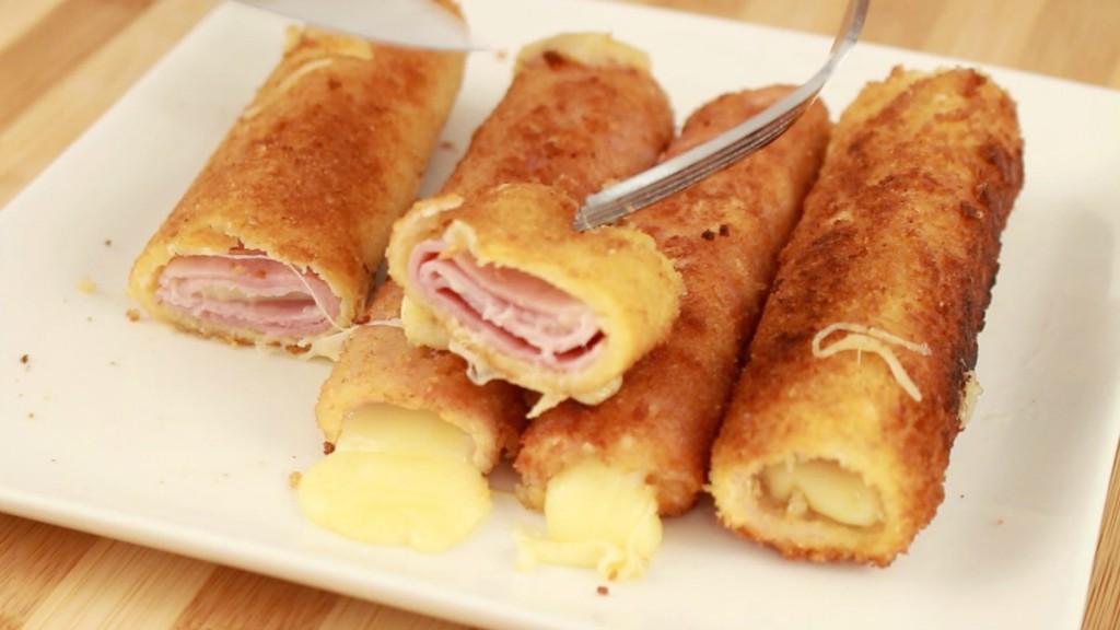 Rollos de jam n y queso for Canape de jamon y queso