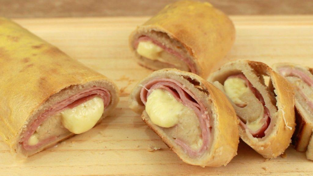 Rollitos de jam n y queso al horno for Canape de jamon y queso